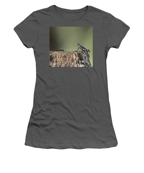 Grasshopper Great River New York Women's T-Shirt (Junior Cut) by Bob Savage