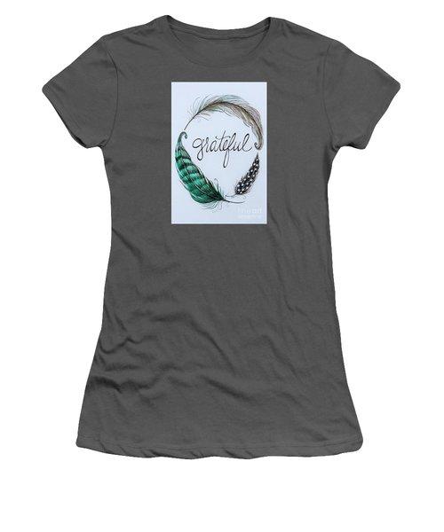 Grateful Women's T-Shirt (Junior Cut) by Elizabeth Robinette Tyndall