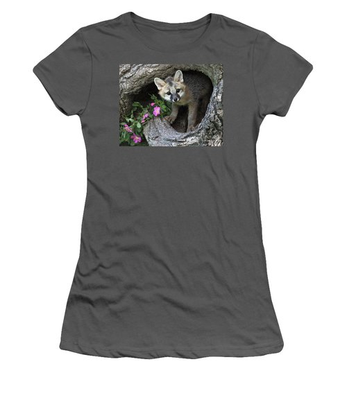 Gray Fox Kit Women's T-Shirt (Athletic Fit)