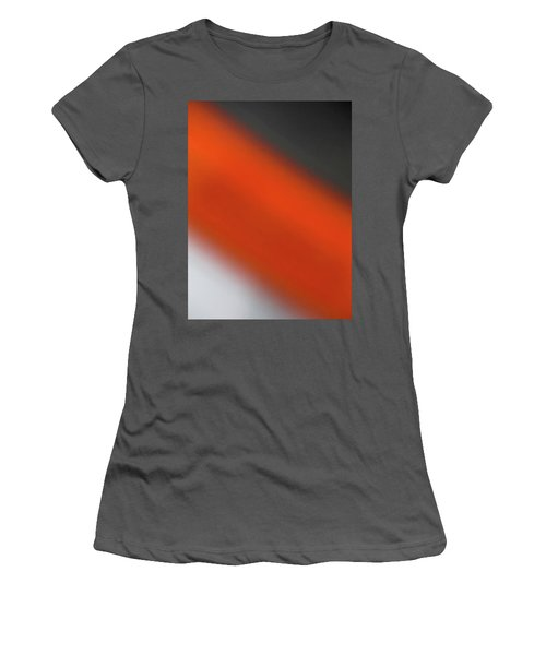 Gray Orange Grey Women's T-Shirt (Athletic Fit)