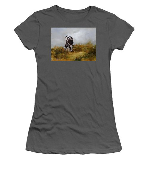 Grazing With Mom Women's T-Shirt (Athletic Fit)