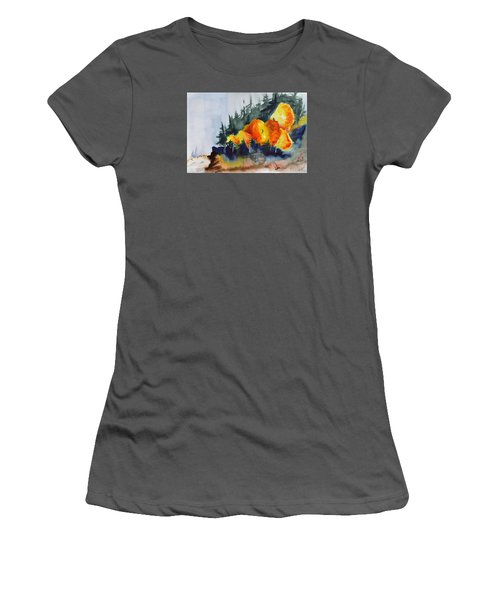 Great Balls Of Fire Women's T-Shirt (Junior Cut) by Beverley Harper Tinsley