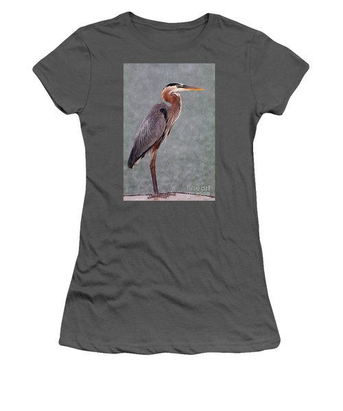 Great Blue In The Rain Women's T-Shirt (Athletic Fit)