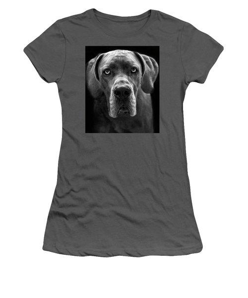 Great Dane  Women's T-Shirt (Junior Cut) by Alex Galkin