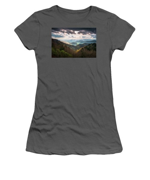 Great Smoky Mountains National Park North Carolina Scenic Landscape Women's T-Shirt (Athletic Fit)
