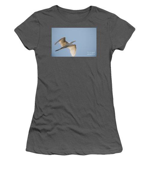 Women's T-Shirt (Junior Cut) featuring the photograph Great White Egret - 2 by David Bearden