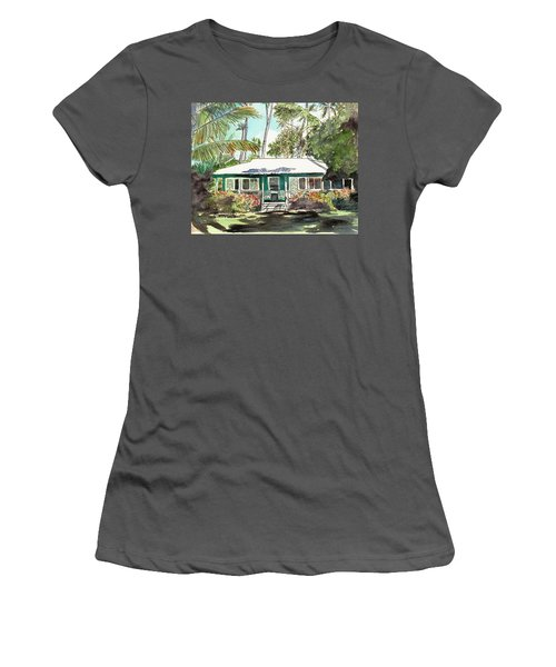 Green Cottage Women's T-Shirt (Athletic Fit)