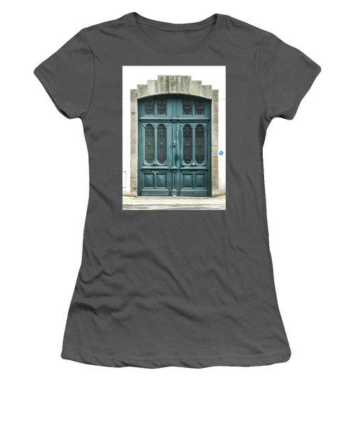 Green Door Women's T-Shirt (Junior Cut) by Helen Northcott