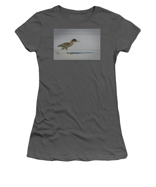 Green Heron On A Mission Women's T-Shirt (Athletic Fit)