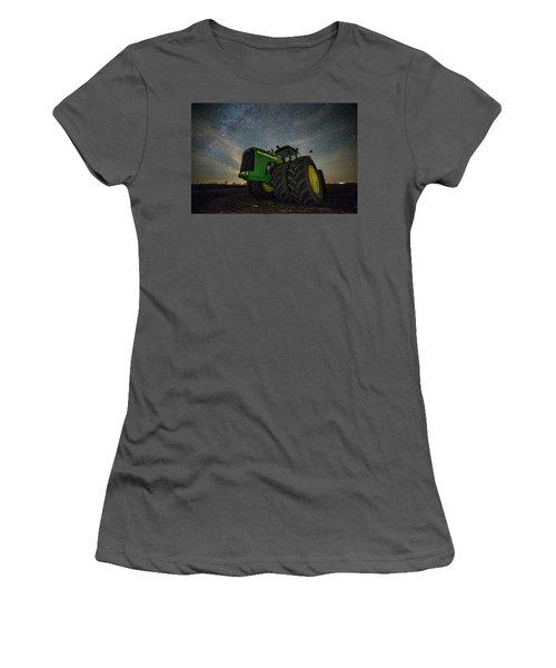 Women's T-Shirt (Junior Cut) featuring the photograph Green Machine  by Aaron J Groen