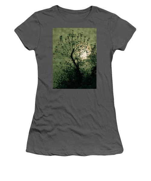 Green Sunset Women's T-Shirt (Athletic Fit)