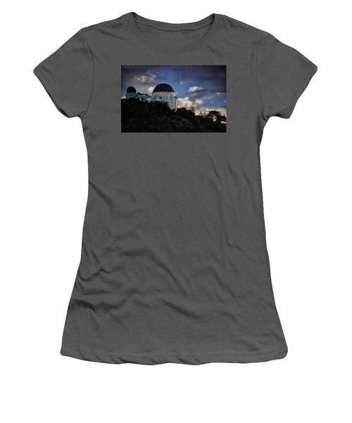 Women's T-Shirt (Junior Cut) featuring the photograph Griffith Observatory by Joseph Hollingsworth