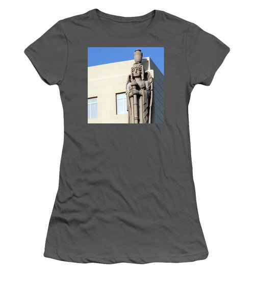 Guardian Angel And Blue Women's T-Shirt (Athletic Fit)