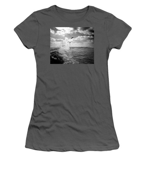 Gulls In A Gale Women's T-Shirt (Athletic Fit)