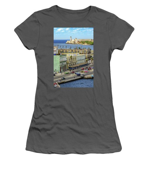 Women's T-Shirt (Athletic Fit) featuring the photograph Habana Havana 2017 by Steven Sparks