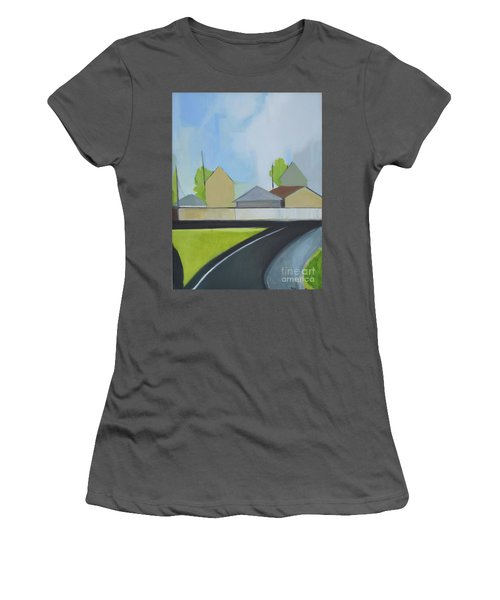 Hackensack Exit Women's T-Shirt (Junior Cut) by Ron Erickson