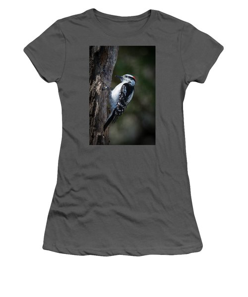 Downy Woodpecker Women's T-Shirt (Athletic Fit)
