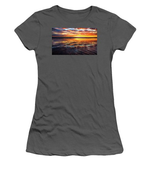 Women's T-Shirt (Junior Cut) featuring the photograph Hampton Beach by Robert Clifford