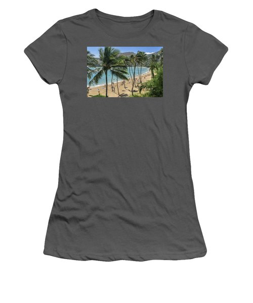 Women's T-Shirt (Athletic Fit) featuring the photograph Hanauma Bay by Steven Sparks