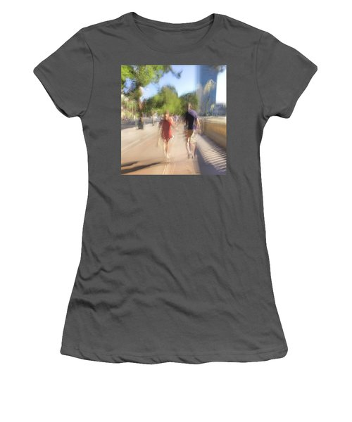 Women's T-Shirt (Athletic Fit) featuring the photograph Hand In Hand by Alex Lapidus