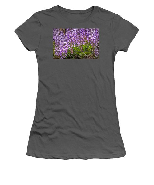 Hanging On The Fence, Wisteria Women's T-Shirt (Athletic Fit)