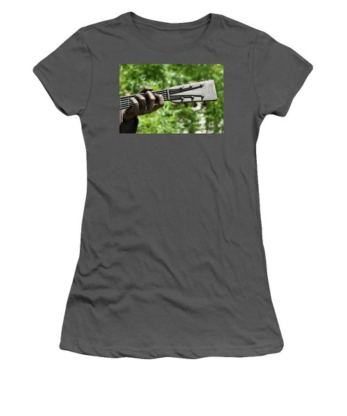 Hank Williams Hand And Guitar Women's T-Shirt (Athletic Fit)