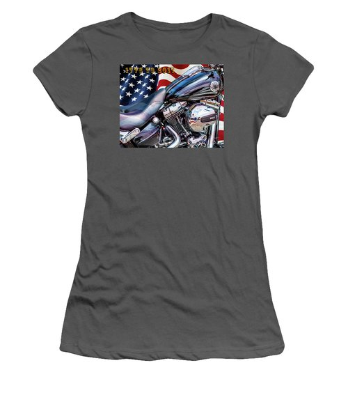 Happy Birthday America Women's T-Shirt (Athletic Fit)