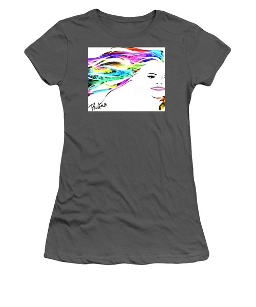 Happy Women's T-Shirt (Junior Cut) by Diana Riukas