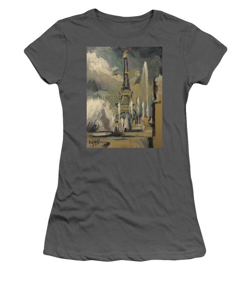 Happy Fountains At Trocadero Women's T-Shirt (Athletic Fit)