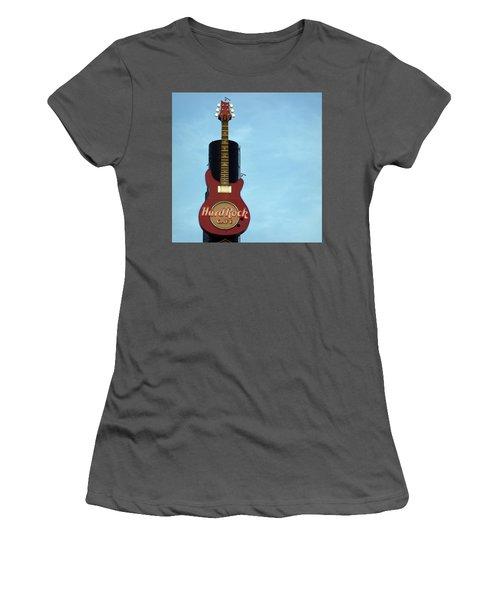 Hard Rock Cafe Women's T-Shirt (Junior Cut) by Joseph Skompski