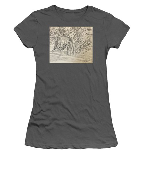 Hardwoods Women's T-Shirt (Athletic Fit)