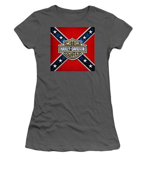 Harley-davidson - 3d Badge Women's T-Shirt (Athletic Fit)