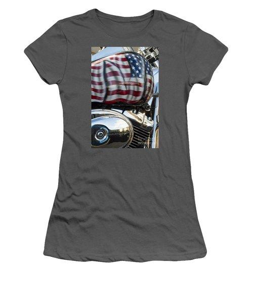 Harley Davidson 7 Women's T-Shirt (Junior Cut) by Wendy Wilton