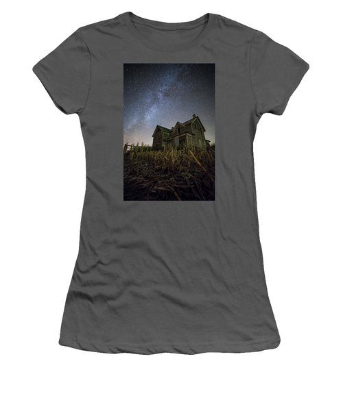 Women's T-Shirt (Junior Cut) featuring the photograph Harvested  by Aaron J Groen