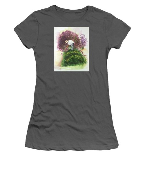 Harvesting Lavender Women's T-Shirt (Junior Cut) by Lucia Grilletto