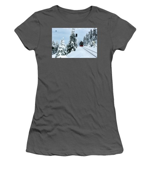 Harz Ballooning And Brocken Railway Women's T-Shirt (Junior Cut) by Andreas Levi