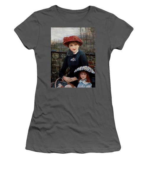 Women's T-Shirt (Junior Cut) featuring the painting Hat Sense by Judy Kirouac