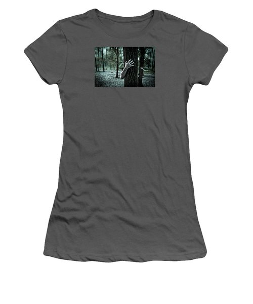 Haunted Forest  Women's T-Shirt (Athletic Fit)