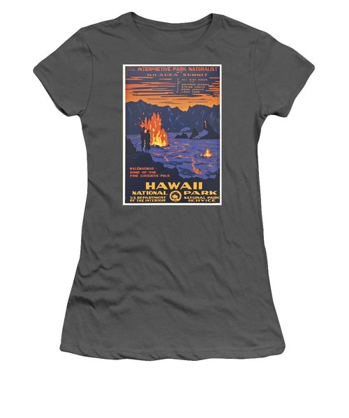 Hawaii Vintage Travel Poster Women's T-Shirt (Junior Cut) by Georgia Fowler