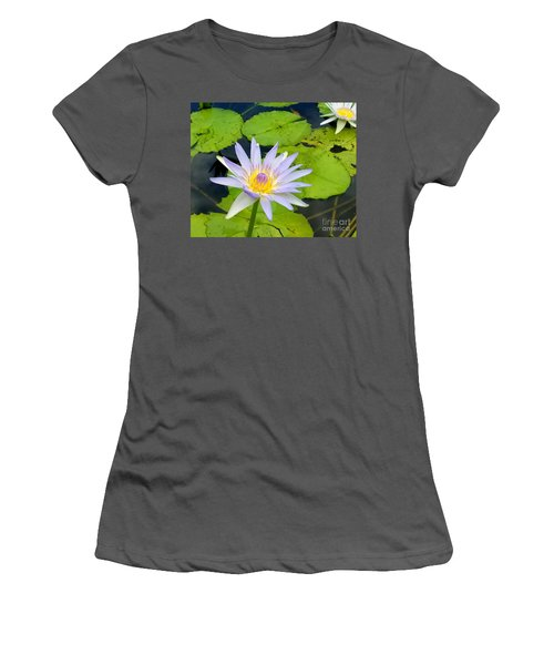 Hawaiian Lotus Women's T-Shirt (Athletic Fit)