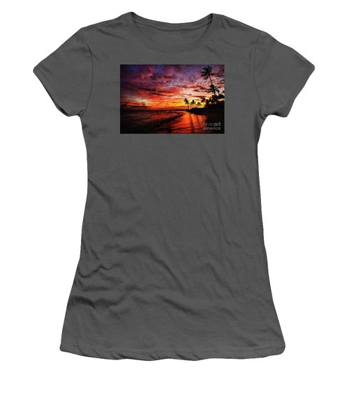 Hawaiian Sunset Women's T-Shirt (Athletic Fit)