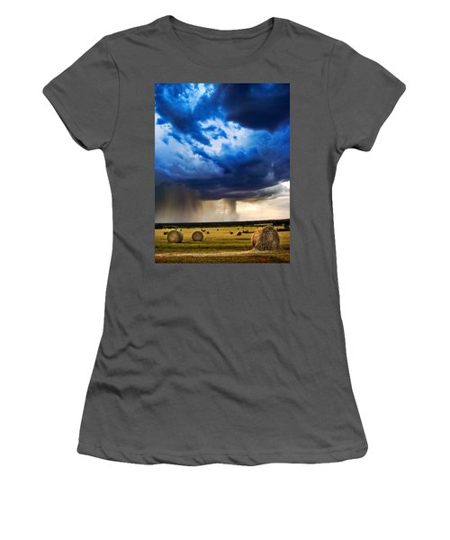Hay In The Storm Women's T-Shirt (Athletic Fit)