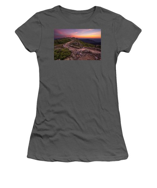 Haystack Sunset Women's T-Shirt (Athletic Fit)