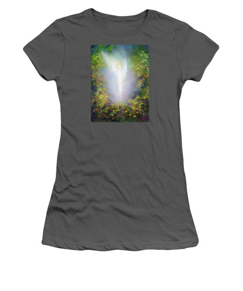 Healing Angel Women's T-Shirt (Junior Cut) by Marina Petro