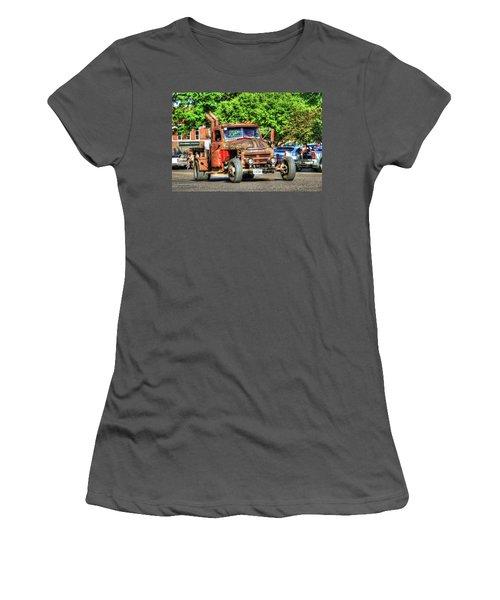 Heavy Duty Custom Dodge Women's T-Shirt (Athletic Fit)