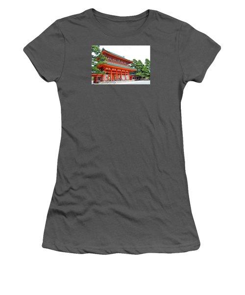 Women's T-Shirt (Junior Cut) featuring the digital art Heian Shrine And Okazaki Park  by Eva Kaufman