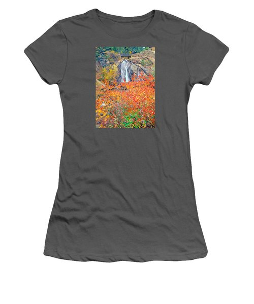 Helen Hunt Falls Autumn V Bridge Women's T-Shirt (Athletic Fit)