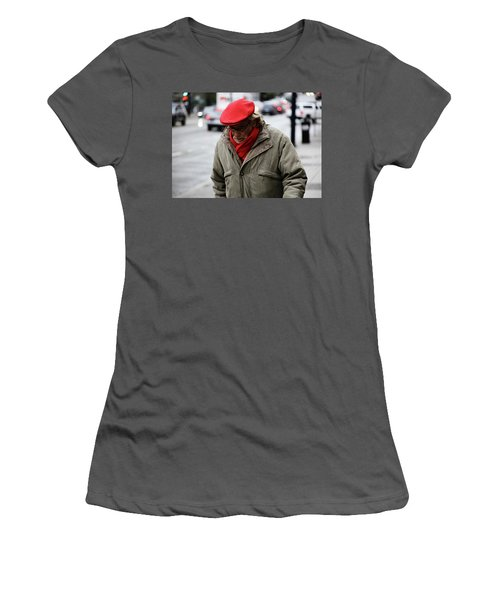 Women's T-Shirt (Junior Cut) featuring the photograph Hello Bonjour  by Empty Wall