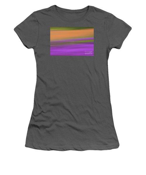 Women's T-Shirt (Junior Cut) featuring the photograph Henbit Abstract - D010049 by Daniel Dempster
