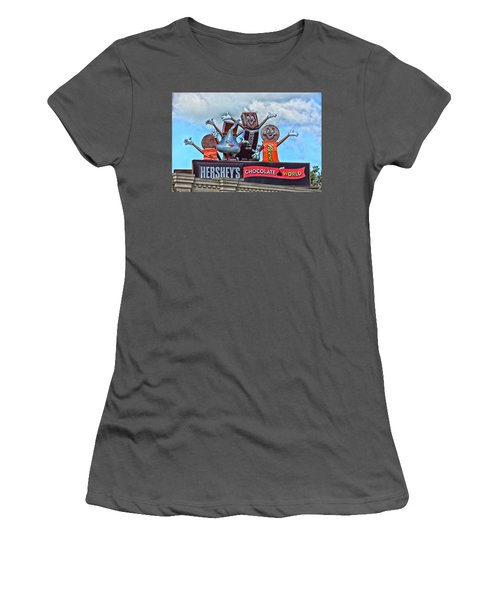 Hershey's Chocolate World Sign Women's T-Shirt (Athletic Fit)